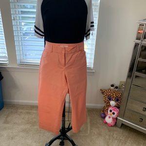 Loft peach Capri pants